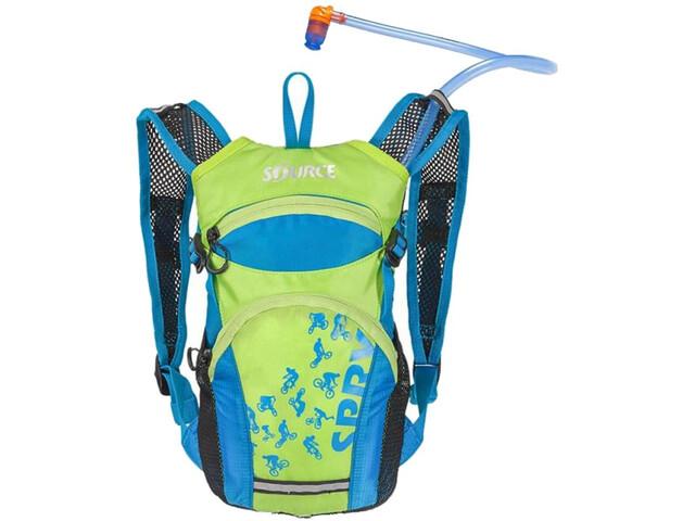 SOURCE Spry Trinkrucksack Kinder 1,5l Light Blue/Green